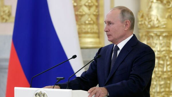 Vladimir Poutine, le 23 septembre 2020 - Sputnik France