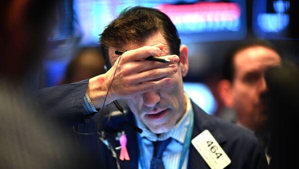 Un trader à la Bourse de New York - Sputnik France