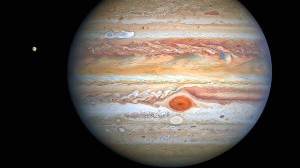 Изображение Юпитера, полученное космическим телескопом NASA/ESA Hubble Space Telescope 25 августа 2020 года - Sputnik France