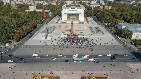 Protestation à Bichkek  - Sputnik France