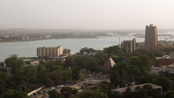 Vue aérienne de Bamako (Mali), avec à droite le bâtiment de la BCEAO (Banque centrale des États de l'Afrique de l'Ouest). - Sputnik France