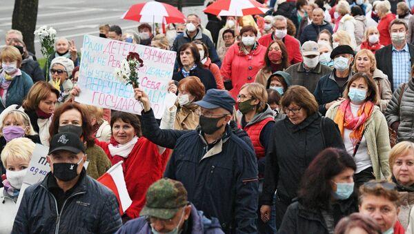 Une manifestation de retraités à Minsk, le 12 octobre - Sputnik France