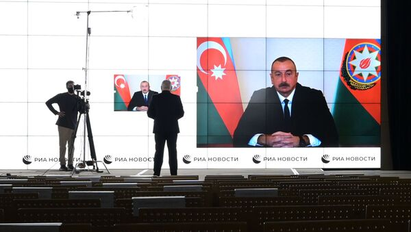 Interview de Dmitri Kisselev, directeur de l'agence Rossiya Segodnya, avec le Président azerbaïdjanais Ilham Aliev - Sputnik France
