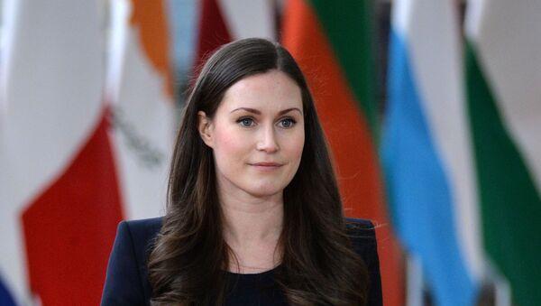 La première ministre finlandaise Sanna Marin lors d'un sommet de l'UE à Bruxelles  - Sputnik France