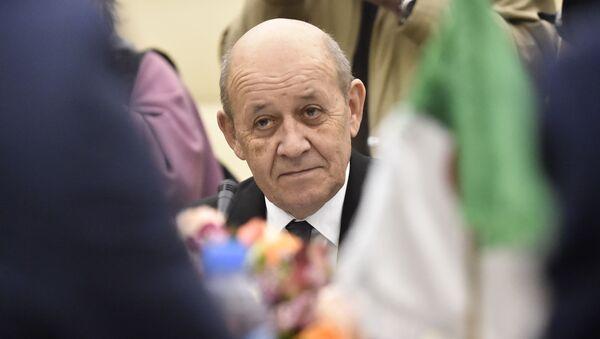 Jean-Yves Le Drian lors d'une visite à Alger, le 21 janvier 2020 - Sputnik France