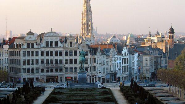 Bruxelles (Belgique), l'hôtel de ville et le centre de la vieille ville vus depuis le Mont des Arts. - Sputnik France