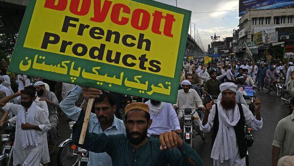 Protestation au Pakistan contre la publication de carricatures par Charlie Hebdo. Image d'illustration  - Sputnik France