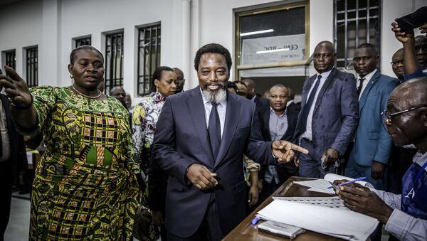 Joseph Kabila arrivant au bureau de vote - Sputnik France