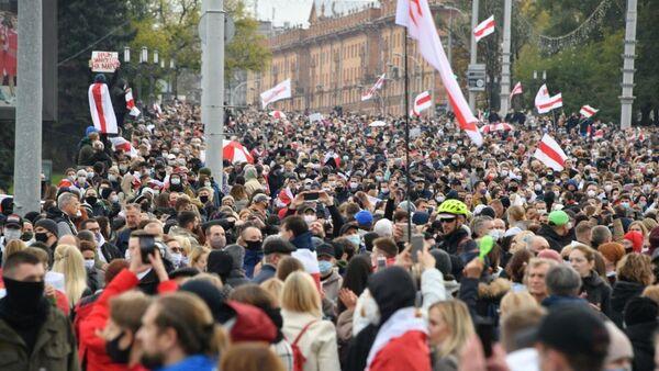 Manifestation à Minsk, le 25 octobre 2020 - Sputnik France