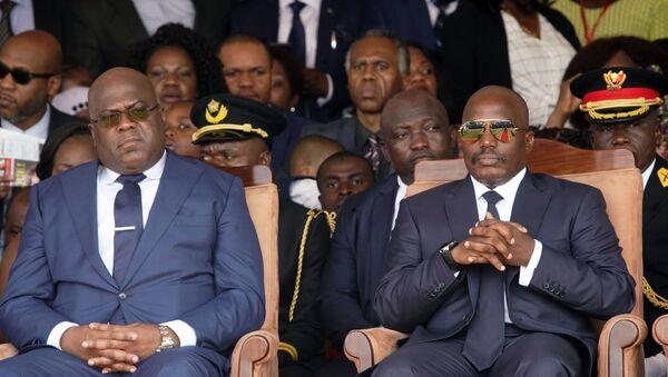 L'actuel Président congolais Félix Tshisekedi et l'ancien Président Joseph Kabila - Sputnik France