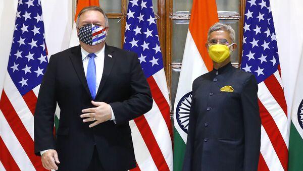 La visite du Secrétaire d'Etat Mike Pompeo en Inde - Sputnik France