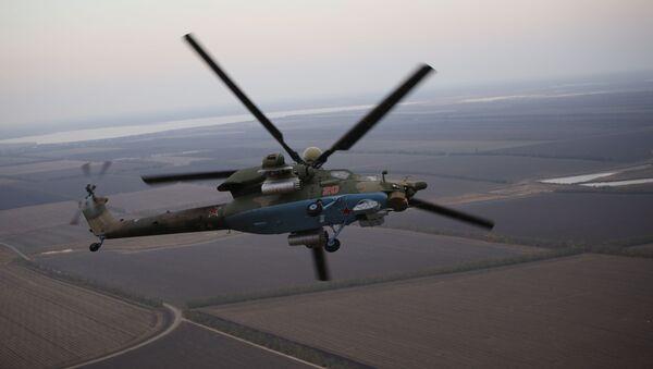 Vols d'entraînement d'hélicoptères en Russie, dans la région de Krasnodar   - Sputnik France