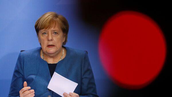 Kanzlerin Angela Merkel hält Pressekonferenz am 28. Oktober ab - Sputnik France