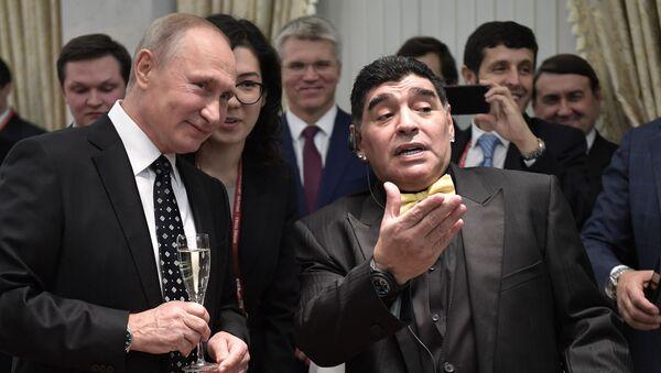 Vladimir Poutine et Diego Maradona - Sputnik France