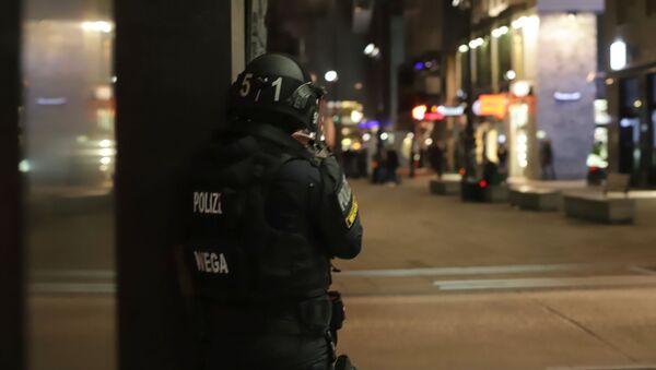 La police devant une synagogue de Vienne, le 2 novembre - Sputnik France