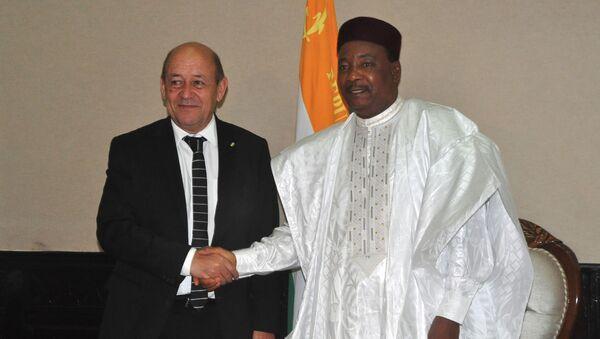 Jean-Yves Le Drian et Mahamadou Issoufou - Sputnik France
