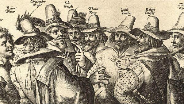 Gravure du XVIIe siècle : les artisans de la conspiration des Poudres - Sputnik France