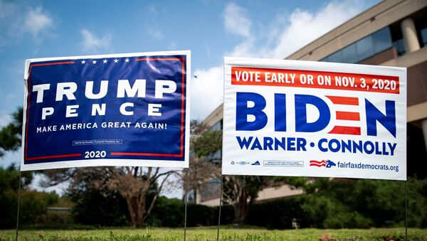 Des panneaux électoraux à Fairfax, en Virginie, le 18 septembre 2020 - Sputnik France