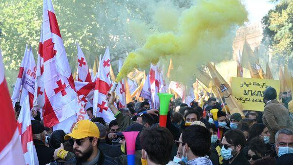 Une manifestation à Tbilissi (8 novembre 2020) - Sputnik France