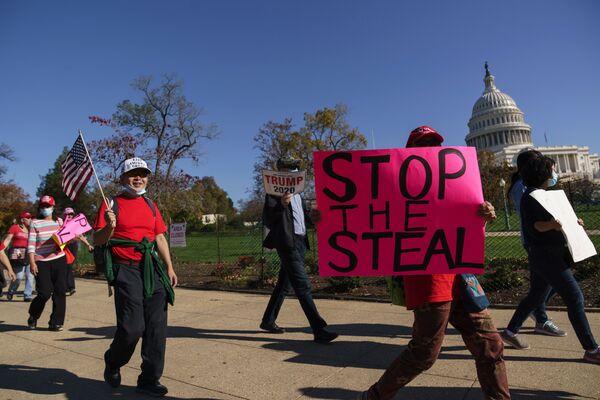 Stop the Steal: les partisans de Trump protestent contre les résultats du scrutin   - Sputnik France