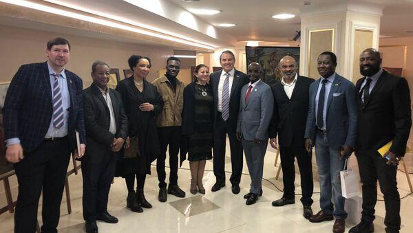 Igor Morozov, senateur russe, à l'ouverture d'exposition Russie-Afrique  - Sputnik France