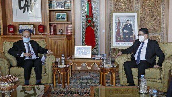 Le ministre des Affaires étrangères français Jean-Yves Le Drian et son homologue marocain Nasser Bourita - Sputnik France