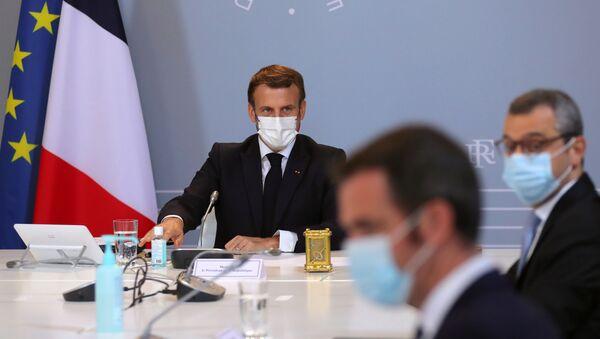 Emmanuel Macron Conseil de défense - Sputnik France