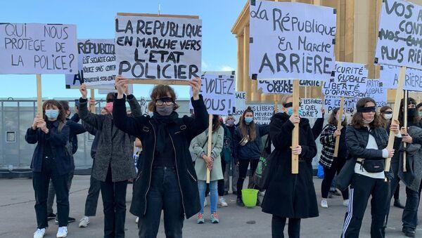 Manifestation contre la loi «sécurité globale» à Paris, 21 novembre 2020 - Sputnik France