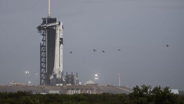 Une fusée Falcon-9 sur la rampe de lancement  - Sputnik France