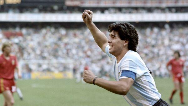 Diego Maradona pendant la Coupe du monde 1986 - Sputnik France