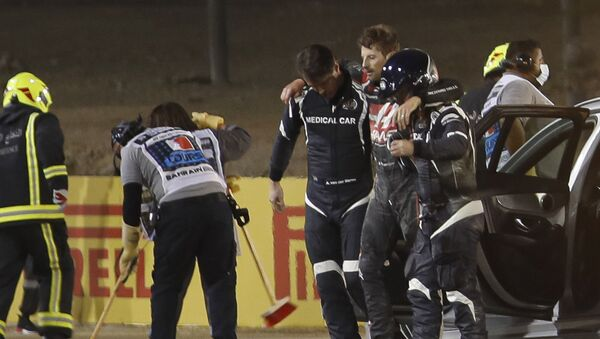 Romain Grosjean après un crash au Grand Prix de Bahreïn - Sputnik France