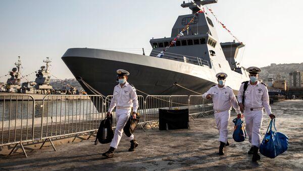 La réception de la corvette Saar 6 de fabrication allemande par la Marine israélienne   - Sputnik France