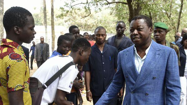 Le président togolais Faure Gnassingbé arrive au bureau de vote - Sputnik France