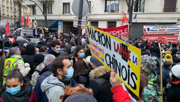 Une manifestation contre la loi Sécurité Globale à Paris, 5 décembre 2020 - Sputnik France