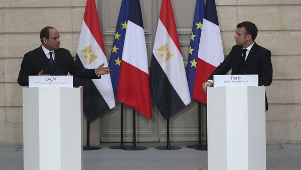 Emmanuel Macron et Abdel Fattah al-Sisi, le 7 décembre 2020 - Sputnik France