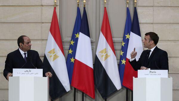 Emmanuel Macron et Abdel Fattah al-Sissi  - Sputnik France