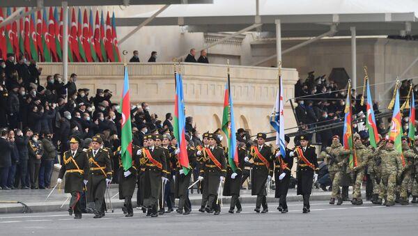 Recep Tayyip Erdogan assiste aux célébrations consacrées à la fin du conflit dans le Haut-Karabakh à Bakou - Sputnik France