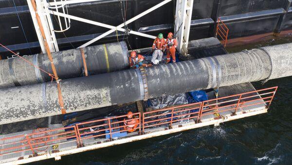 Construction du gazoduc Nord Stream 2 - Sputnik France