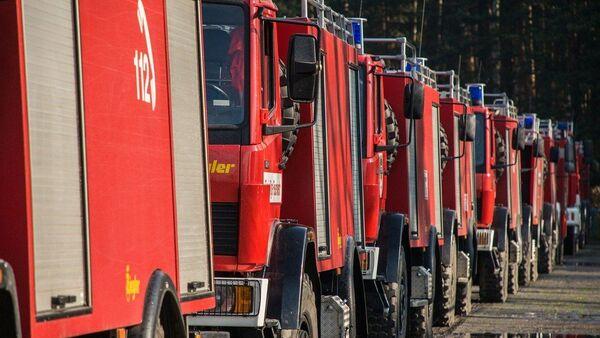 véhicules des sapeurs-pompiers, image d'illustration - Sputnik France
