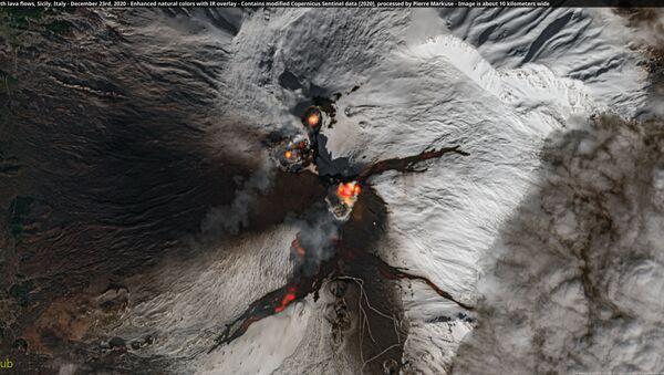 Volcan Etna vu de l'espace (archive photo) - Sputnik France