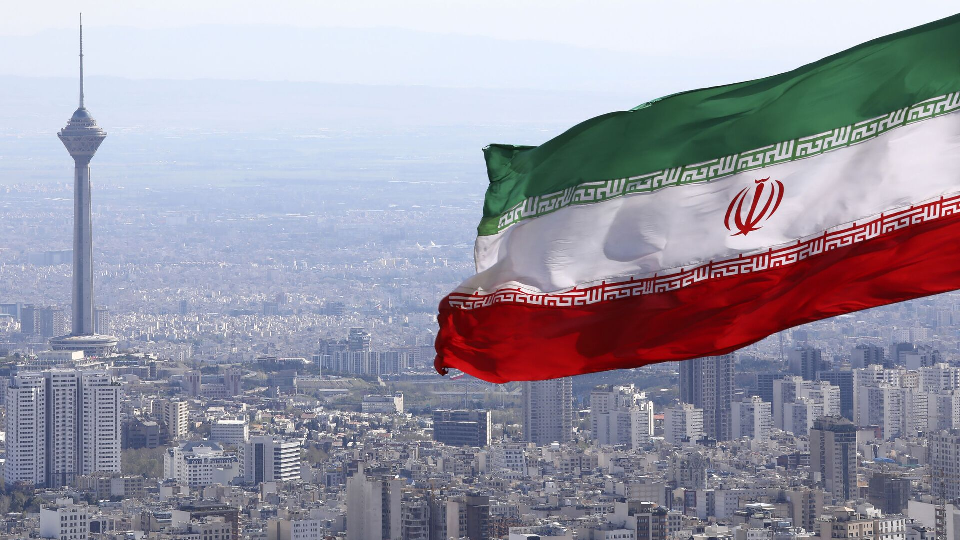 Drapeau iranien, Téhéran - Sputnik France, 1920, 13.10.2021