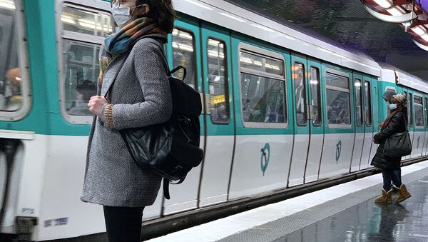 Situation dans le métro parisien lors du deuxième confinement, le 4 novembre 2020 - Sputnik France
