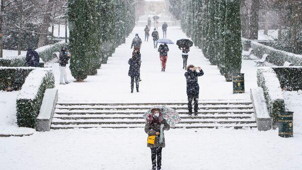 Chutes de neige à Madrid, le 8 janvier 2021 - Sputnik France
