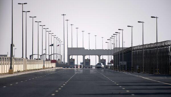 Point de contrôle à la frontière entre le Qatar et l'Arabie Saoudite avant son ouverture - Sputnik France
