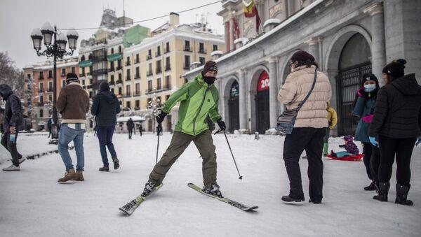Madrid après une tempête de neige, le 9 janvier 2021 - Sputnik France