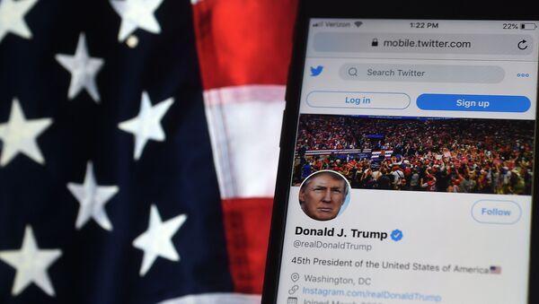 Le compte Twitter de Donald Trump (illustration) - Sputnik France