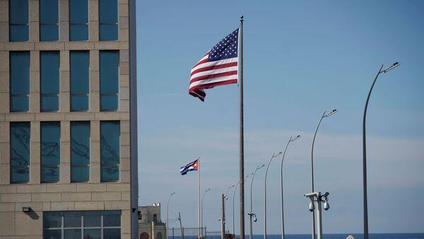 Drapeaux américain et cubain, La Havane - Sputnik France