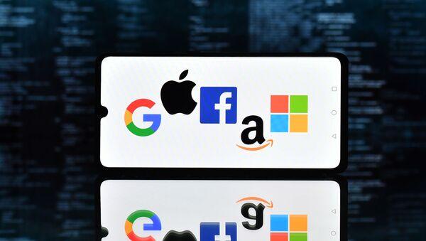Logos de Google, Apple, Facebook, Amazon et Microsoft (GAFAM) - Sputnik France