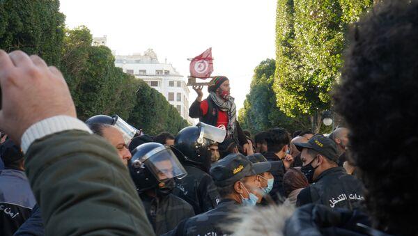 Manifestation à Tunis - Sputnik France