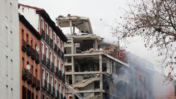 Madrid après une explosion au 98, rue de Toledo (20 janvier 2021) - Sputnik France